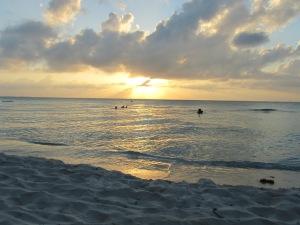 Sunset at Playa Norte, Isla Mujeres, Mexico. April 2013.