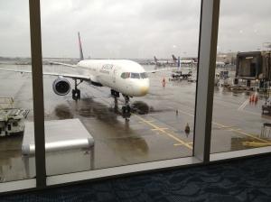 Waiting at my gate at Atlanta's airport.
